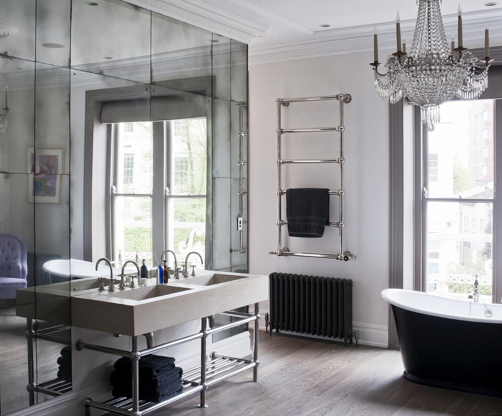 Should You Place A Mirror On Top Of Another Mirror Mirror Walls In Antique Mirrors For Bathrooms (View 5 of 15)