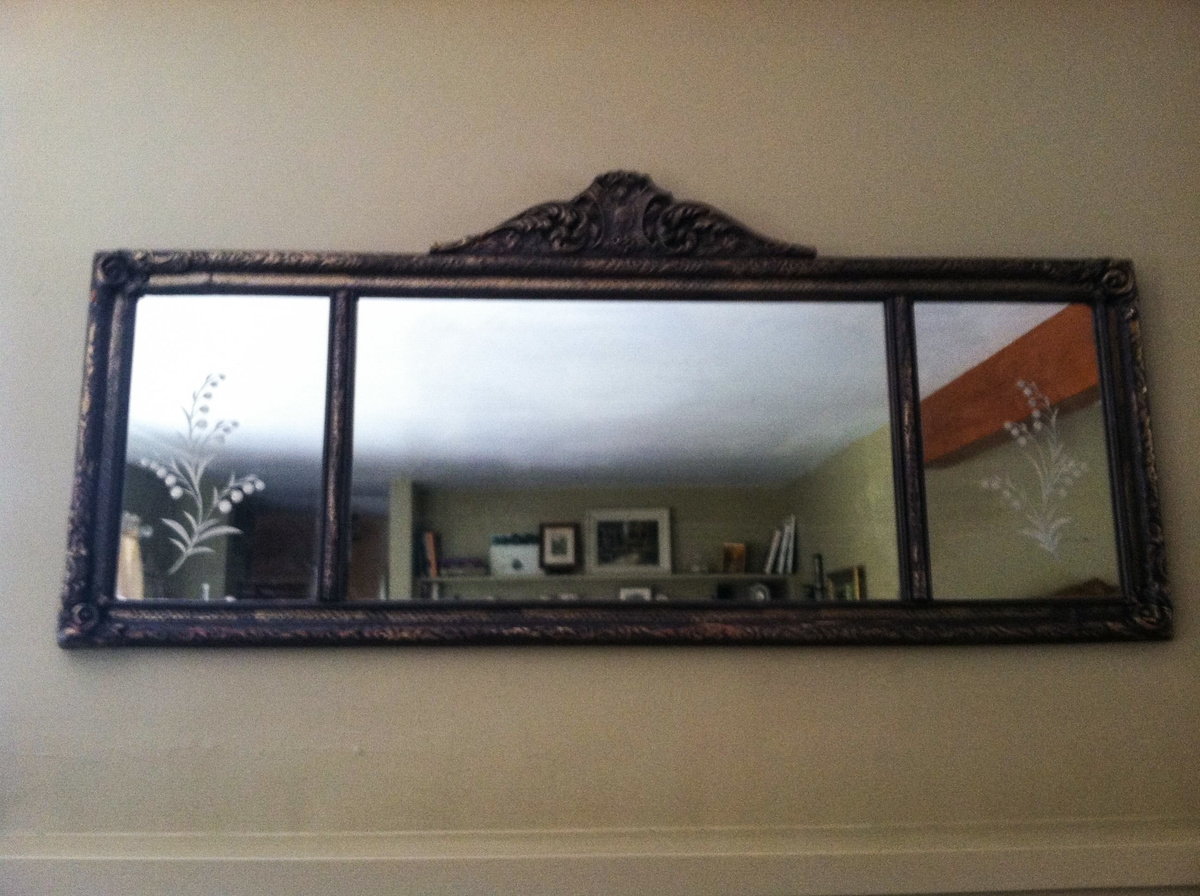 Show Tell Antique And Vintage Mirrors Collectors Weekly For Antique Triple Mirror (Image 10 of 15)