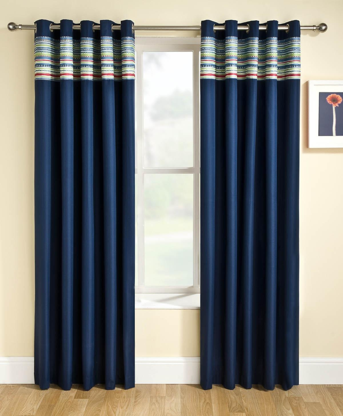 Siesta Blackout Eyelet Curtains Blue Free Uk Delivery Terrys Inside Blue Blackout Curtains Eyelet (Image 13 of 15)