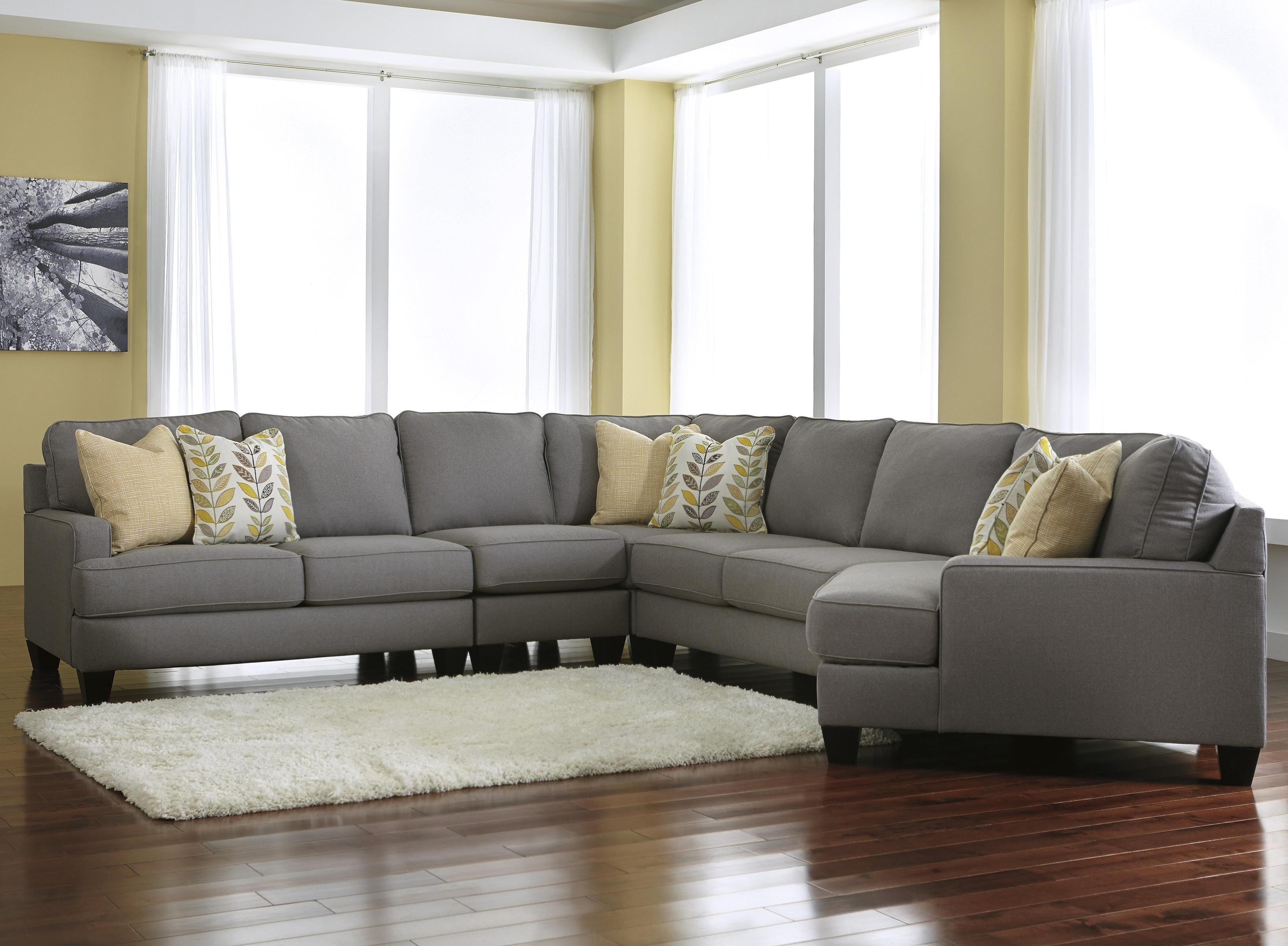 Signature Design Ashley Chamberly Alloy Modern 5 Piece With Cuddler Sectional Sofa (Image 14 of 15)