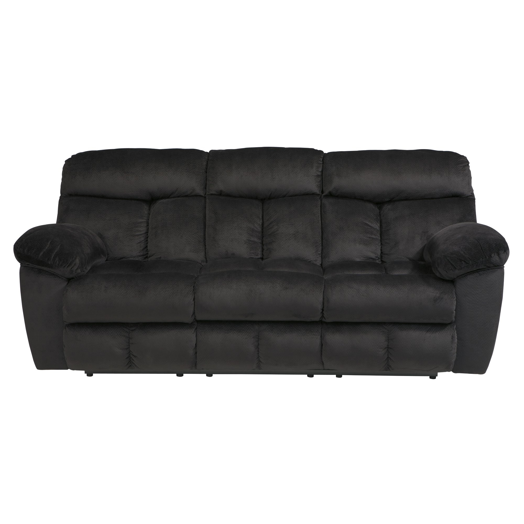 Signature Design Ashley Saul Reclining Sofa Reviews Wayfair With Ashley Tufted Sofa (Image 13 of 15)