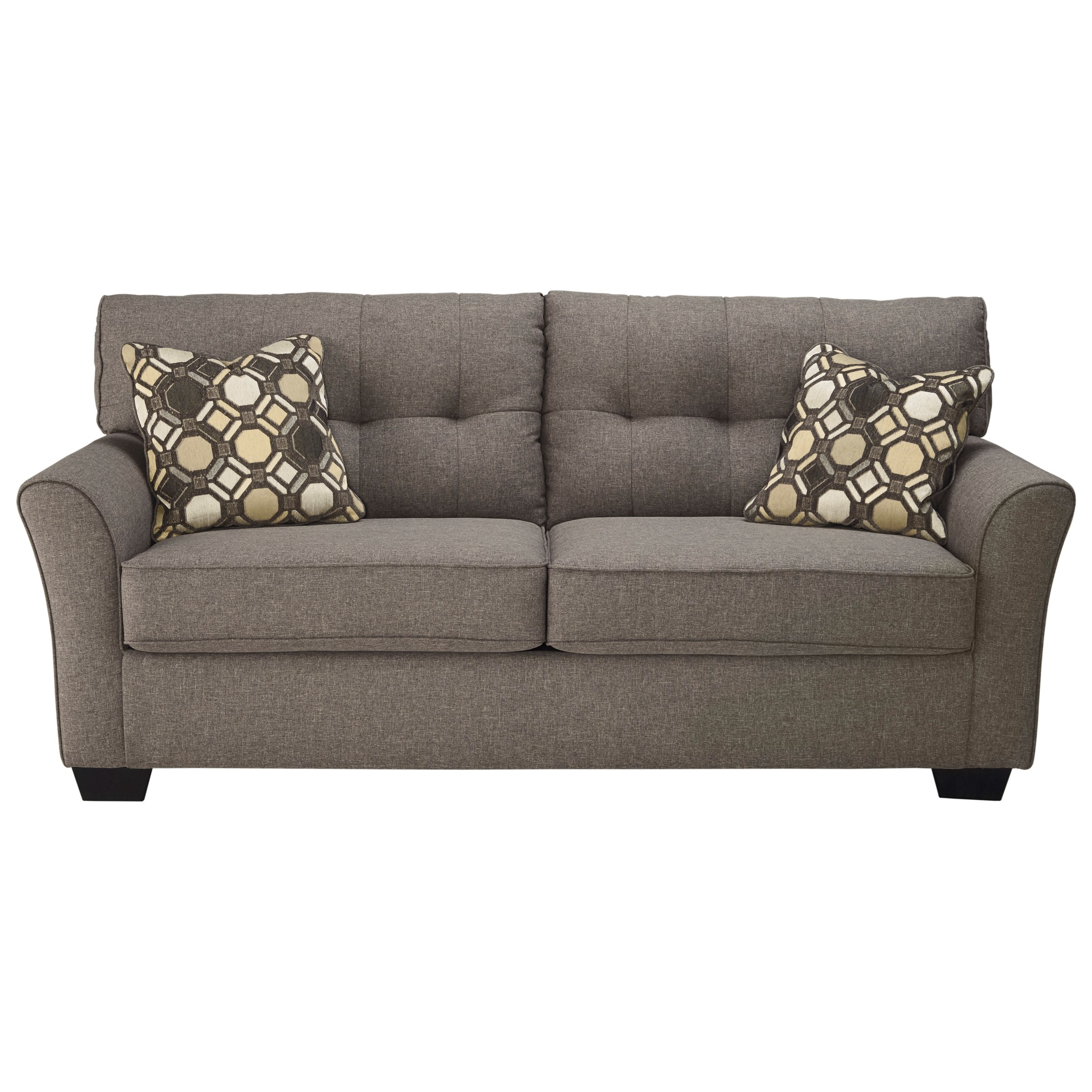 Signature Design Ashley Tibbee Contemporary Sofa With Tufted In Ashley Tufted Sofa (Image 14 of 15)