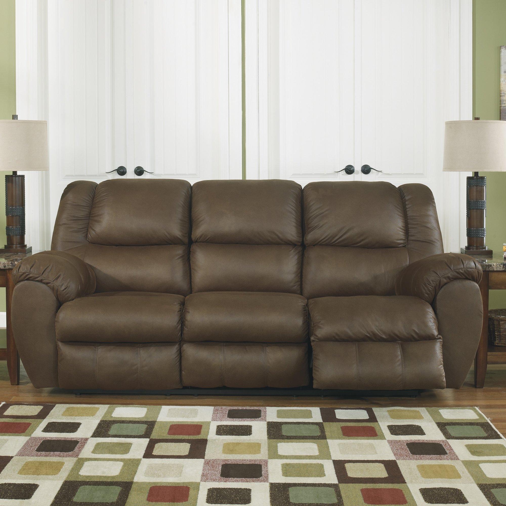 Signature Design Ashley Weatherly Reclining Sofa Reviews Regarding Ashley Tufted Sofa (Image 15 of 15)