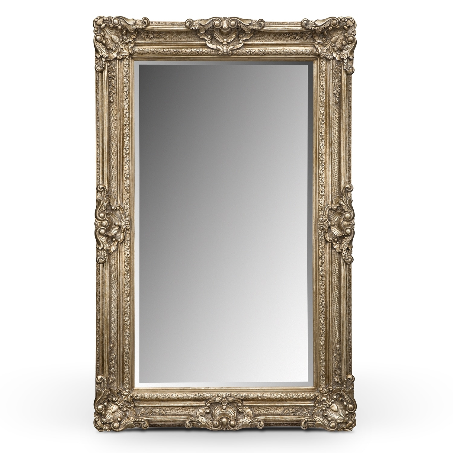 Silver Antique Floor Mirror Value City Furniture Regarding Long Silver Mirror (Image 11 of 15)
