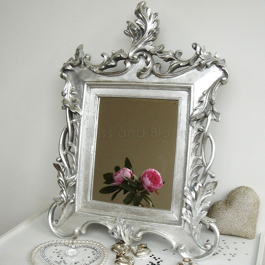 Silver Baroque Mirror Bliss And Bloom Ltd Pertaining To Silver Baroque Mirror (Image 11 of 15)