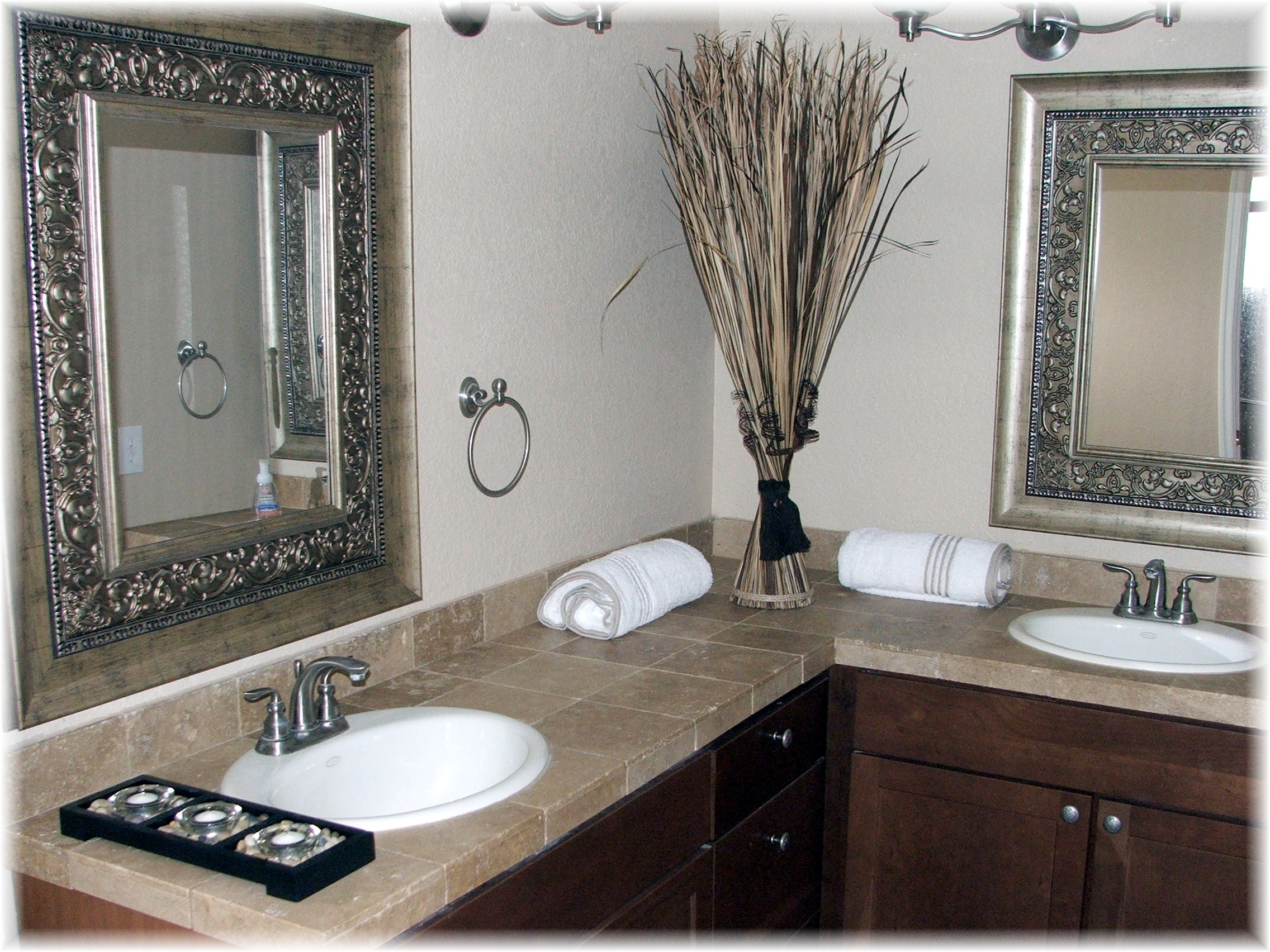 Silver Bathroom Mirror With Shelf Creative Bathroom Decoration For Silver Bathroom Mirror Rectangular (Image 15 of 15)