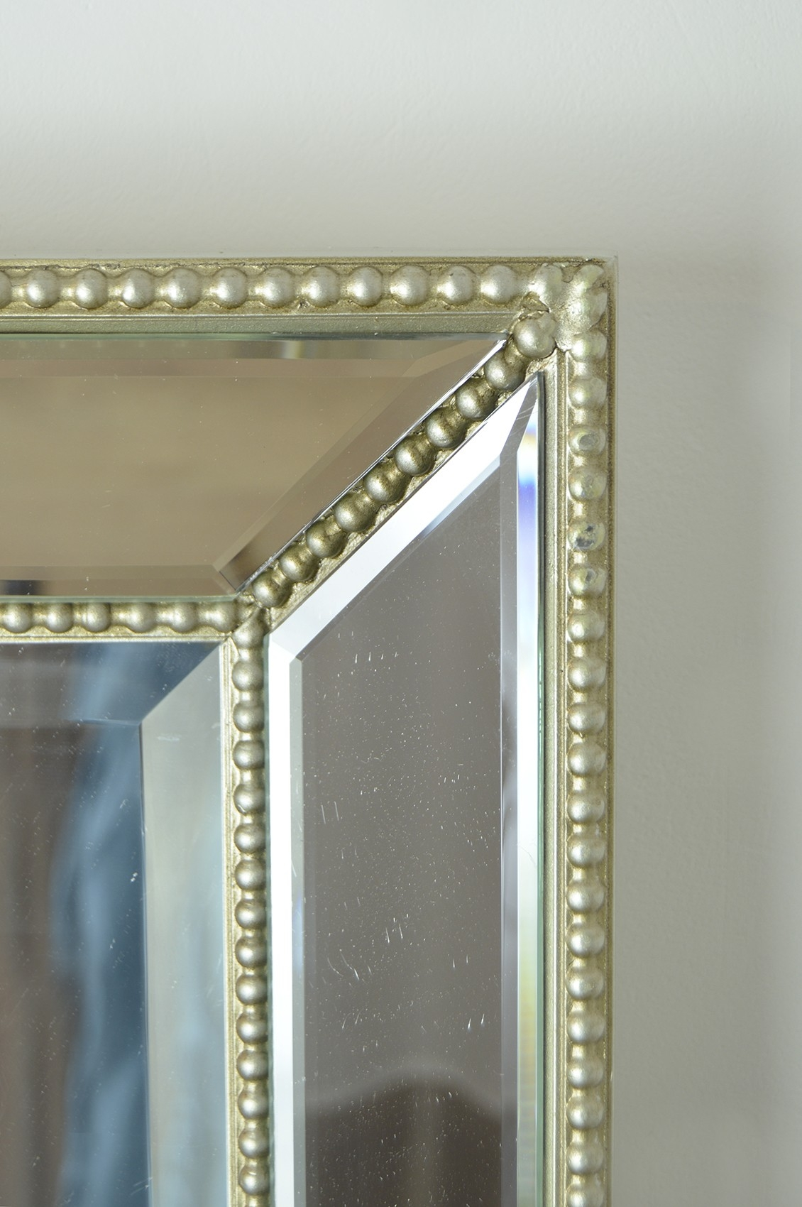 Silver Beaded Wall Mirror Mirror Design Ideas Within Venetian Beaded Mirrors (Image 10 of 15)