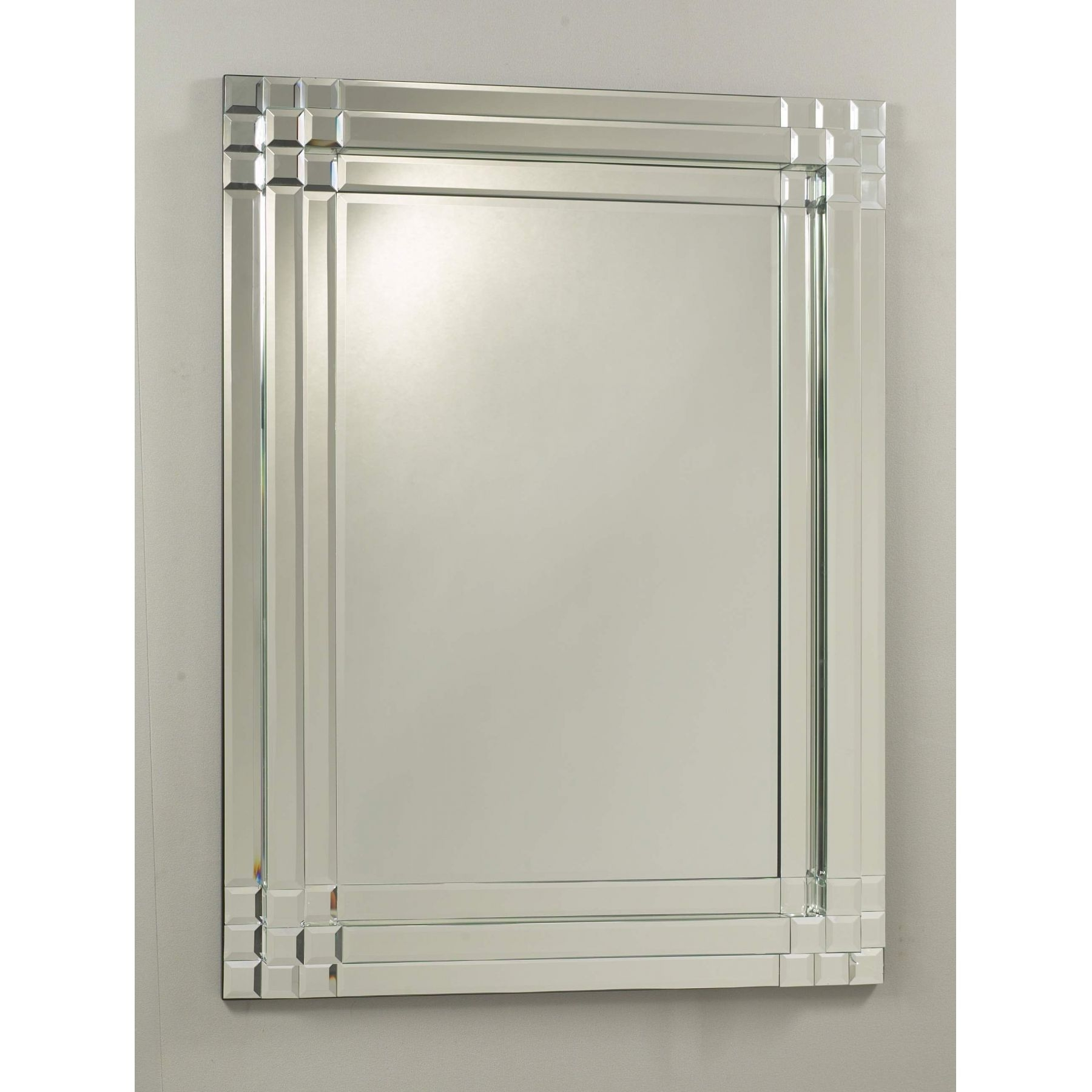 Silver Box Bevel Mirror Miscellaneous From Homesdirect 365 Uk Pertaining To Bevel Mirror (Image 14 of 15)