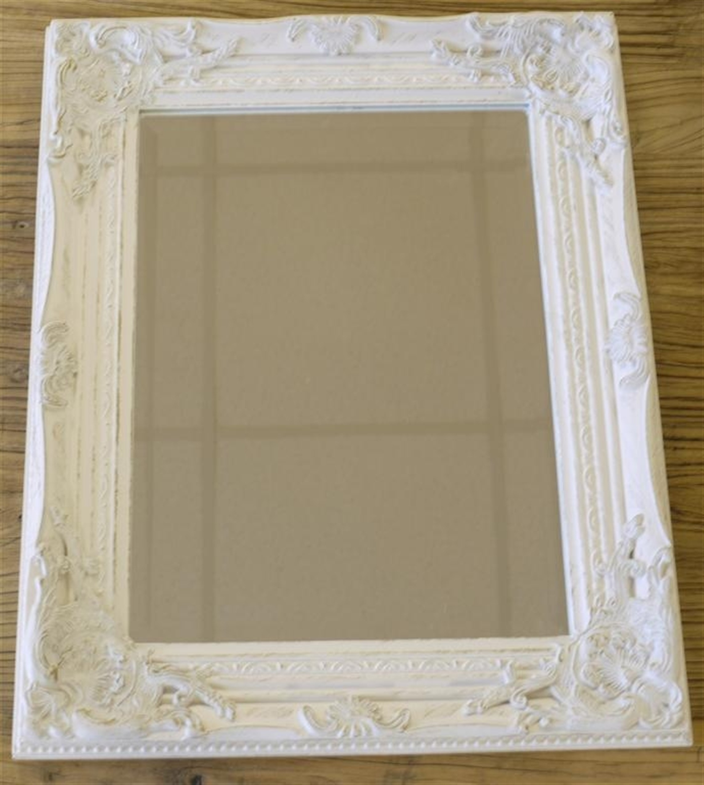 Silver Gilded Or White Shab Chic Bathroom Hall Wall Small Mirror Intended For Round Shabby Chic Mirror (Image 14 of 15)