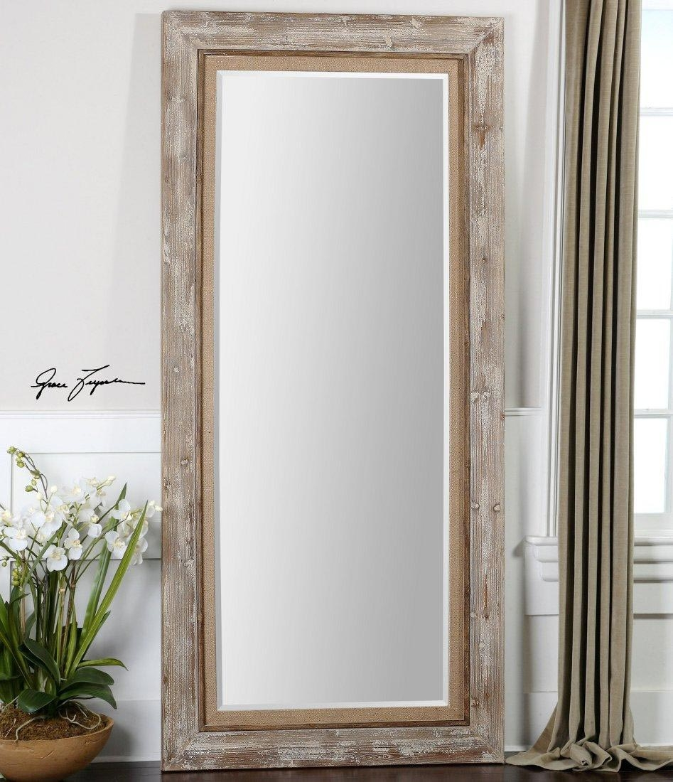 Silver Leaning Floor Mirror Harpsoundsco Regarding French Floor Mirrors (View 13 of 15)