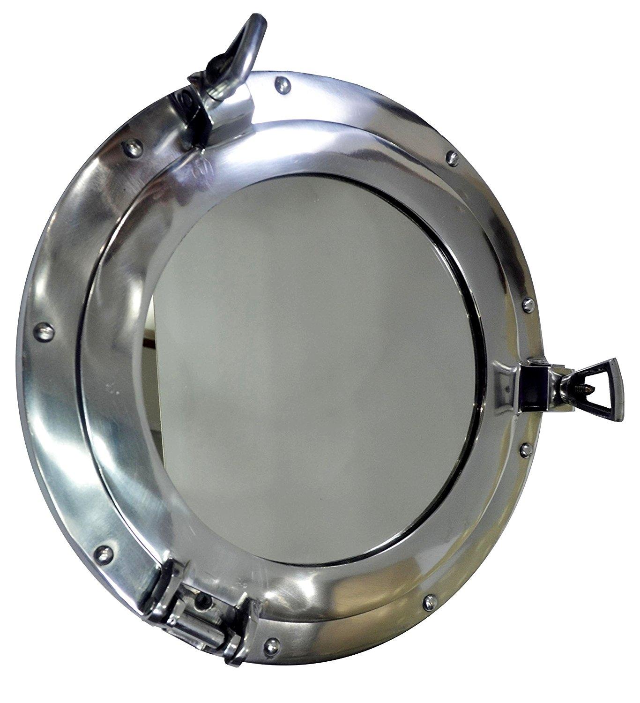 Silver Metal Porthole Mirror Melody Maison Amazoncouk With Chrome Porthole Mirror (View 8 of 15)