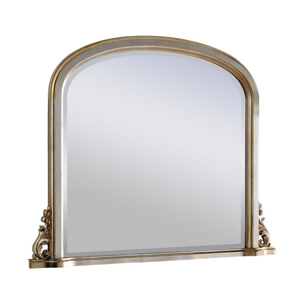 Silver Mirror Compton Silver Overmantel Mirror Select Mirrors With Overmantel Mirror (Image 10 of 15)