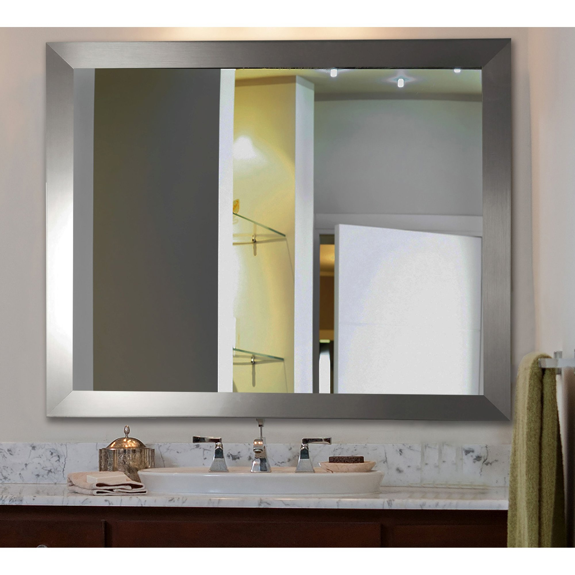Silver Mirrors Youll Love Wayfair Within Long Silver Mirror (Image 14 of 15)