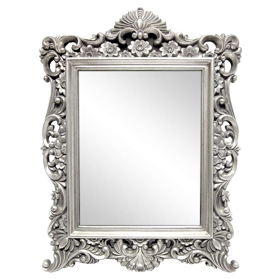 Silver Ornate Framed Mirror Dunelm Furniture Decor With Ornate Silver Mirrors (Image 10 of 15)