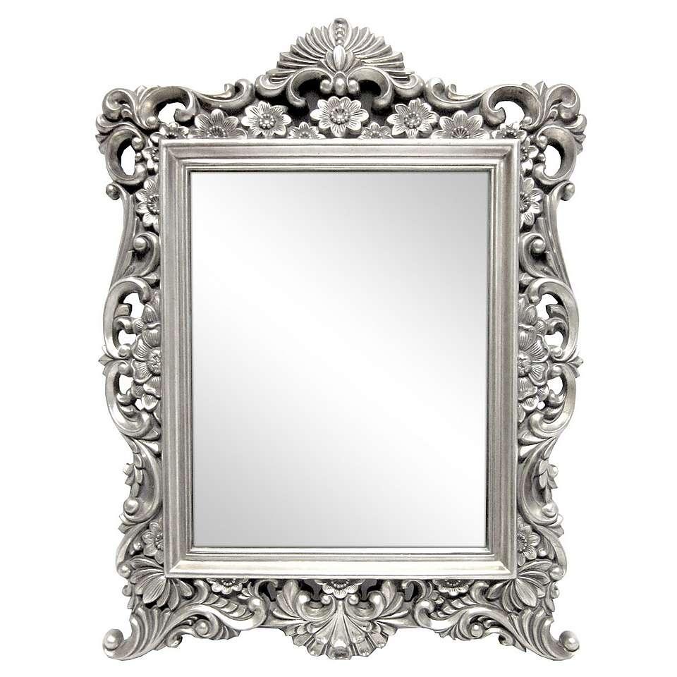15 Photos Ornate Silver Mirrors Mirror Ideas