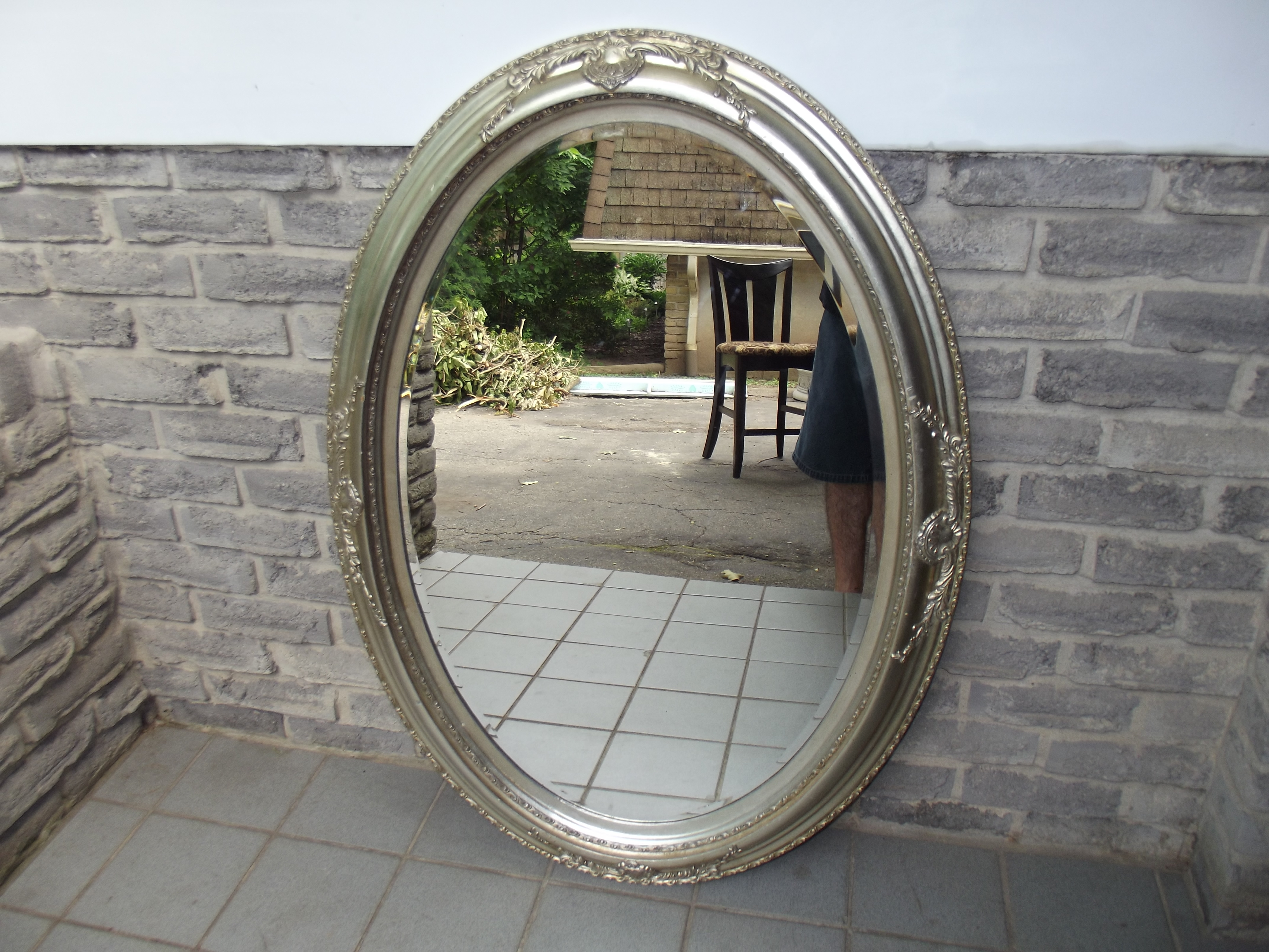 Silver Oval Wall Mirror Secondhand Pursuit Throughout Large Oval Mirrors (Image 13 of 15)