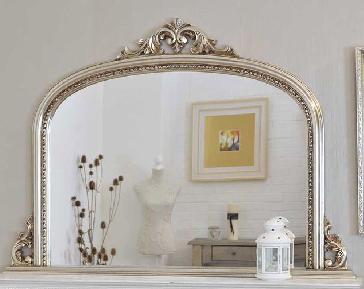 Silver Overmantle Mirror Mooie Zilveren Schouwspiegel Httpwww With Regard To Overmantel Mirror (Image 11 of 15)