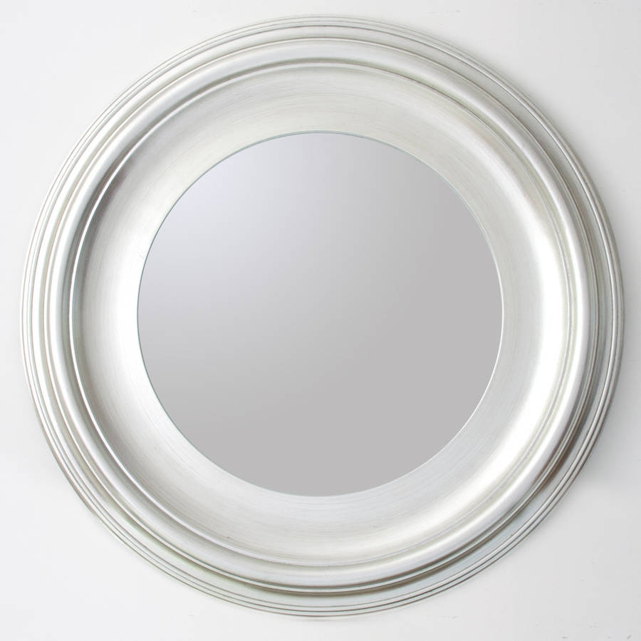 Silver Round Mirror Decorative Mirrors Online For White Round Mirror (Image 12 of 15)