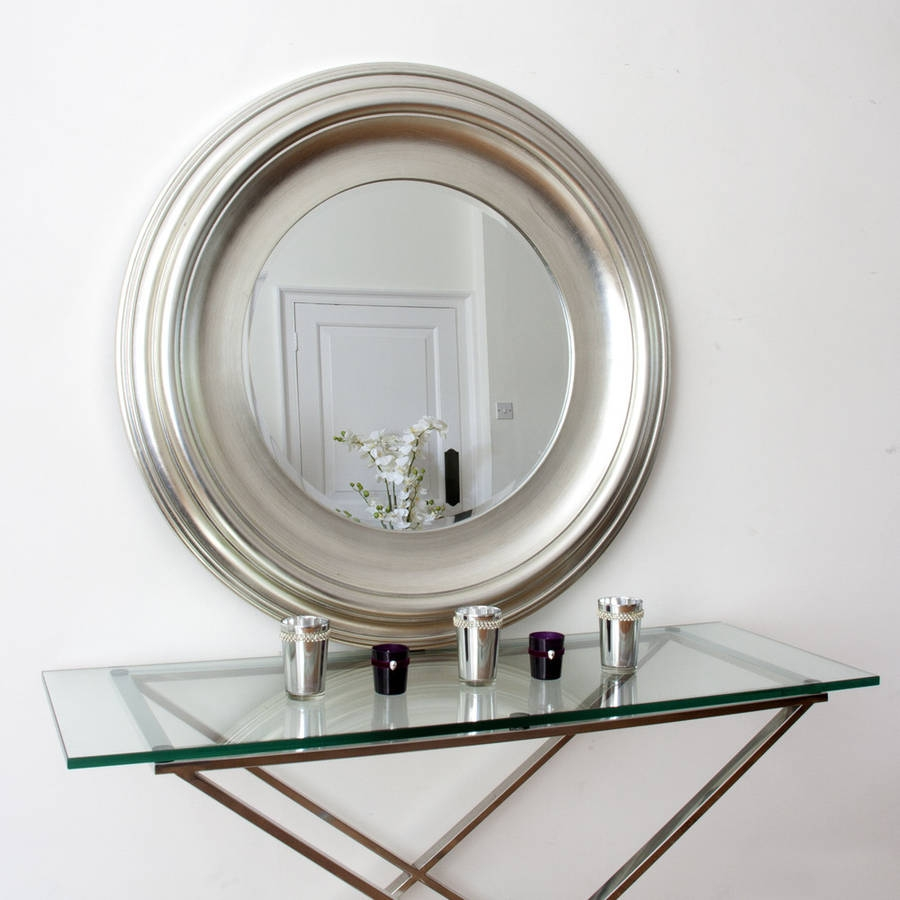 Silver Round Mirror Decorative Mirrors Online In Round Silver Mirrors (Image 12 of 15)