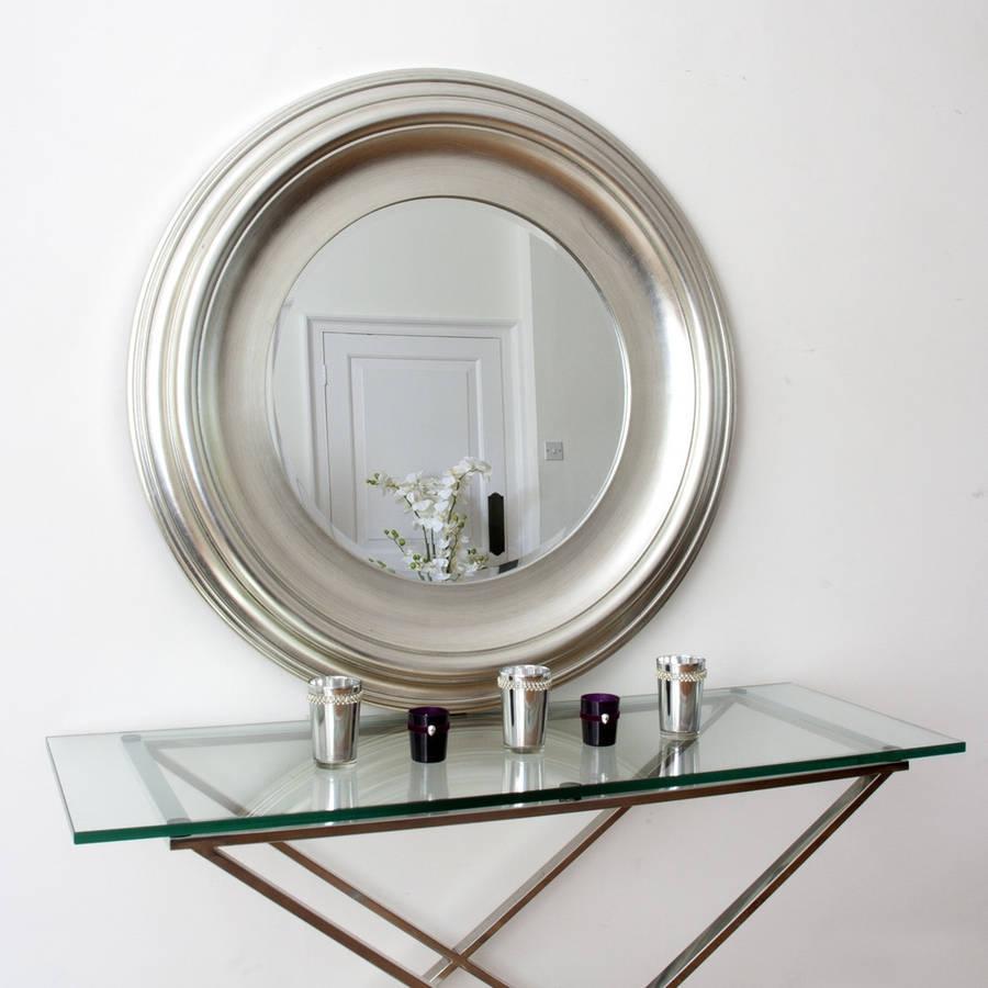Silver Round Mirror Decorative Mirrors Online Regarding Round Silver Mirror (Image 12 of 15)