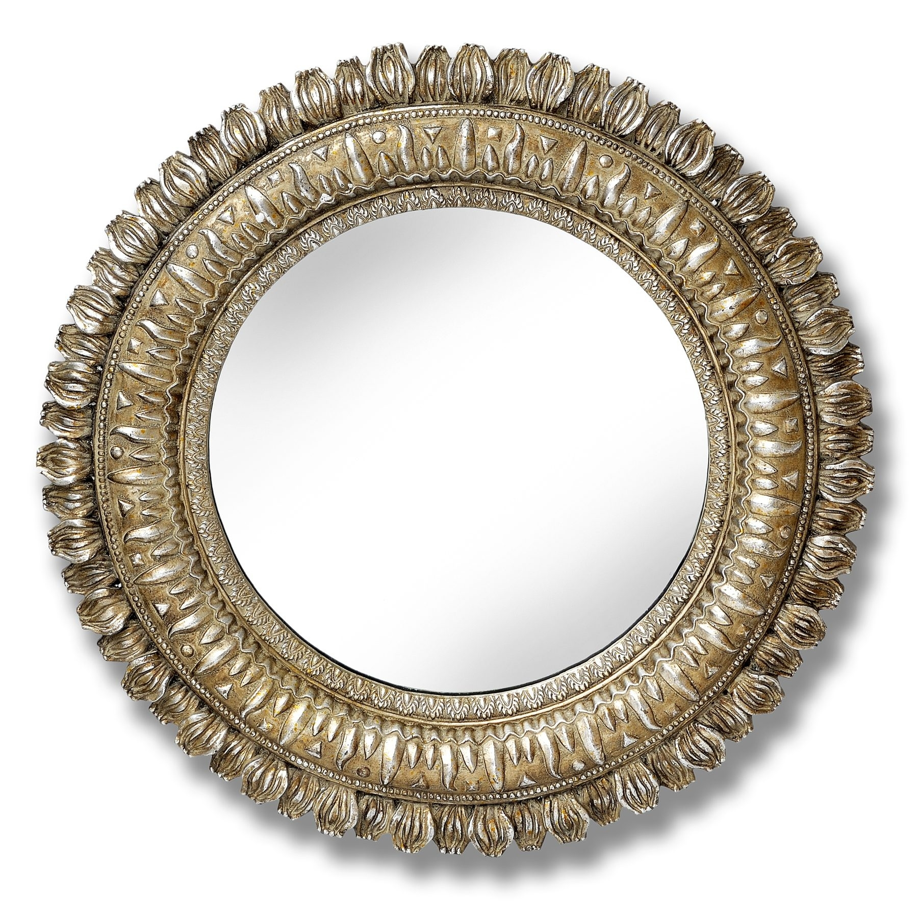 Silver Round Wall Mirror Swanky Interiors In Round Mirrors For Sale (Image 11 of 15)