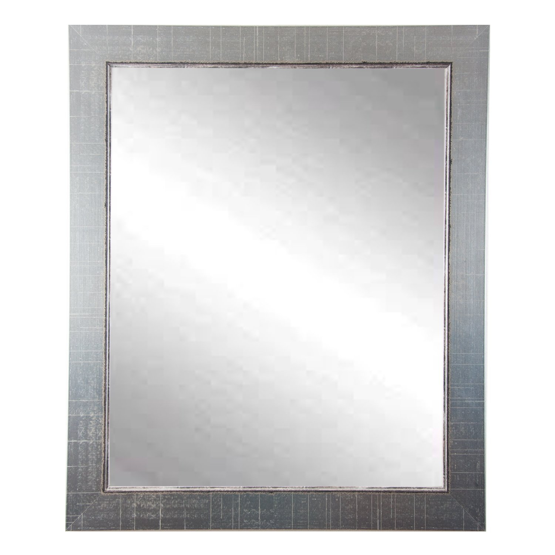 Silver Vintage Vanity Wall Mirror Allmodern For Silver Vintage Mirror (Image 9 of 15)