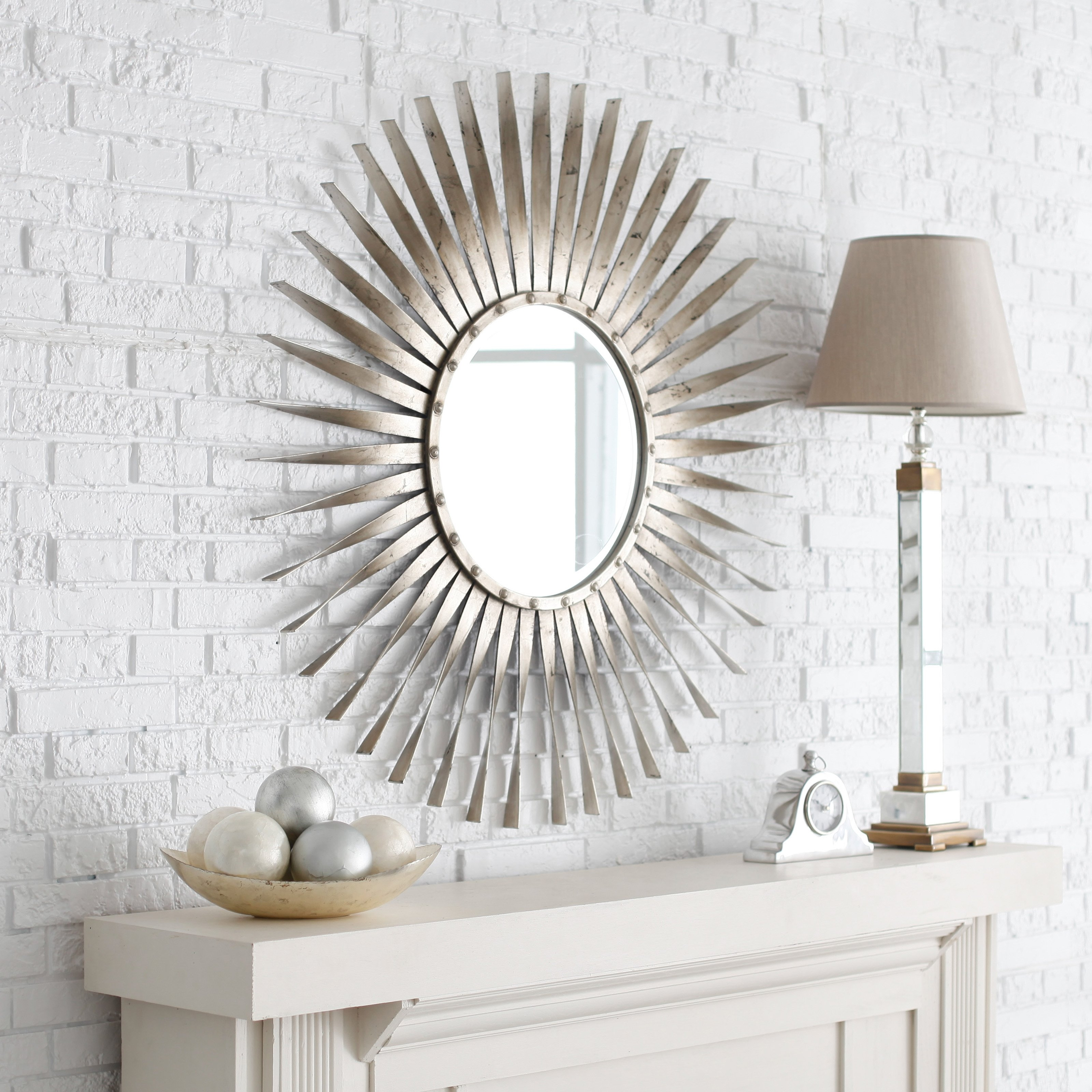 Silver Wall Mirrors Decorative Inarace With Extra Large Sunburst Mirror (View 3 of 15)