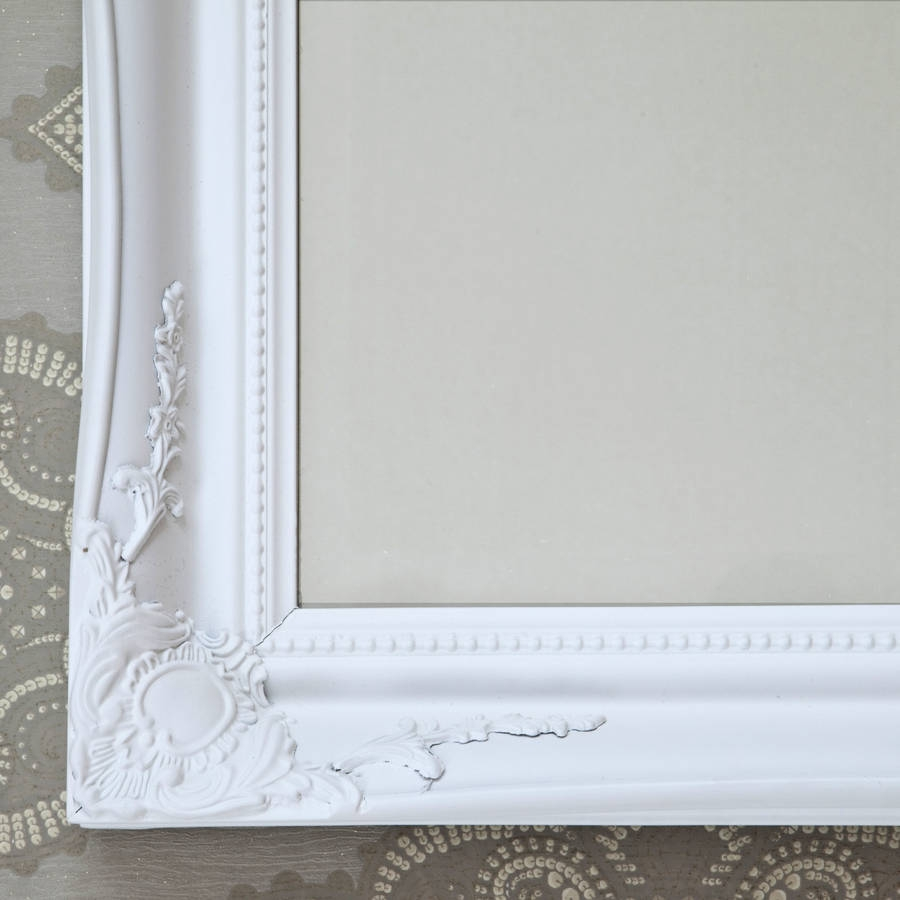 Simple Classic French White Mirror Decorative Mirrors Online With French White Mirror (Image 11 of 15)