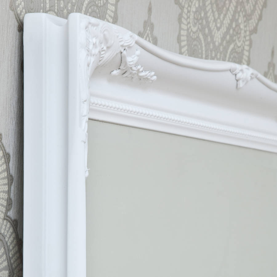 Simple Classic French White Mirror Decorative Mirrors Online With French White Mirror (Image 9 of 15)