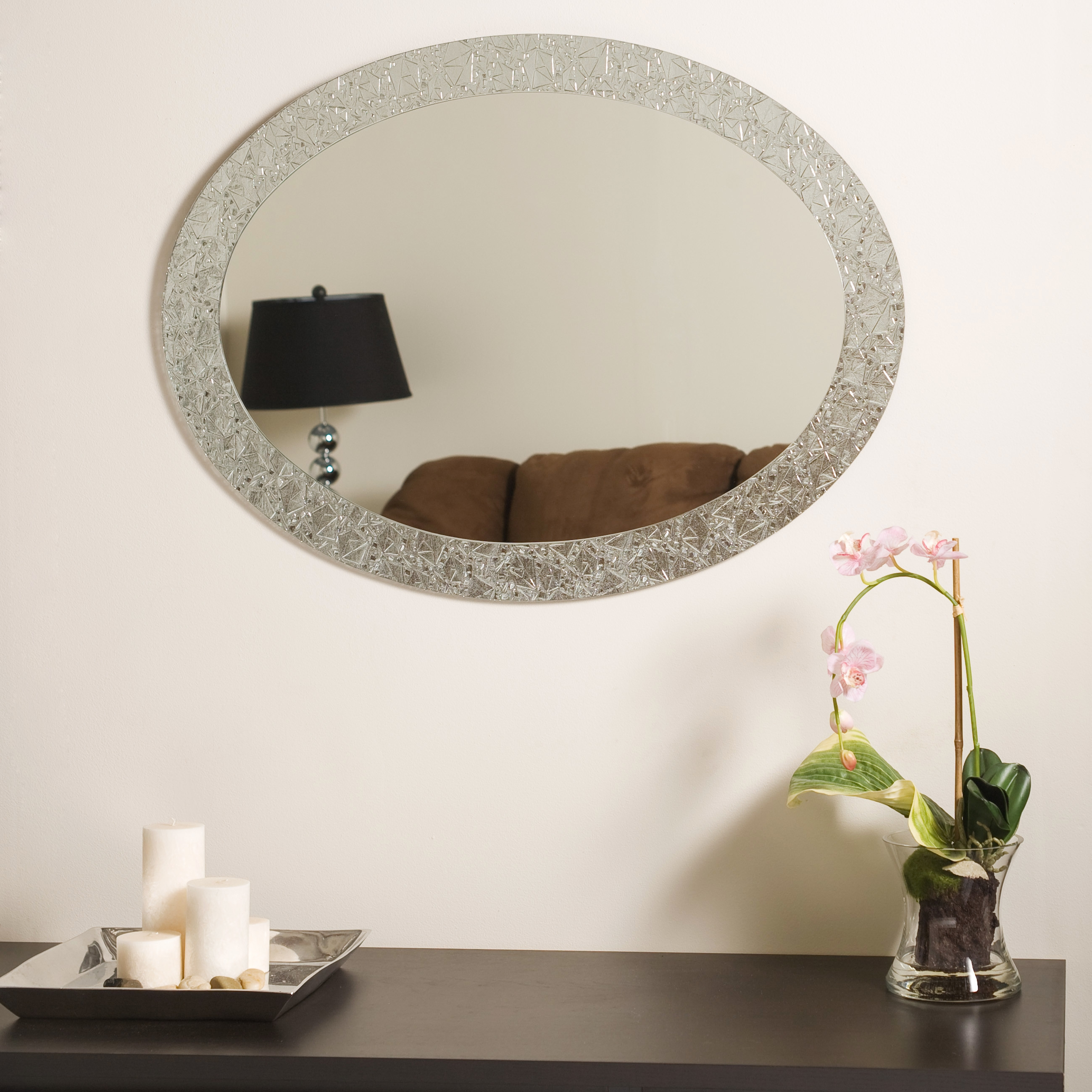 Simple Decoration Crystal Wall Mirror Sensational Design Inside Wall Mirror With Crystals (Image 11 of 15)