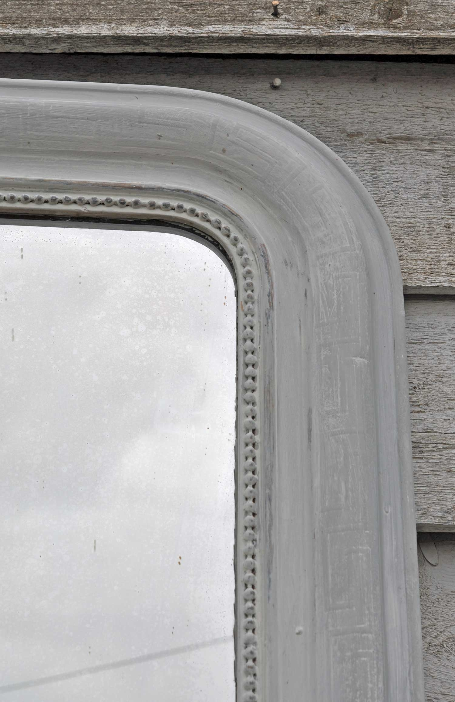 Simple Grey French Overmantle Mirror Home Barn Vintage With Grey Vintage Mirror (Image 11 of 15)