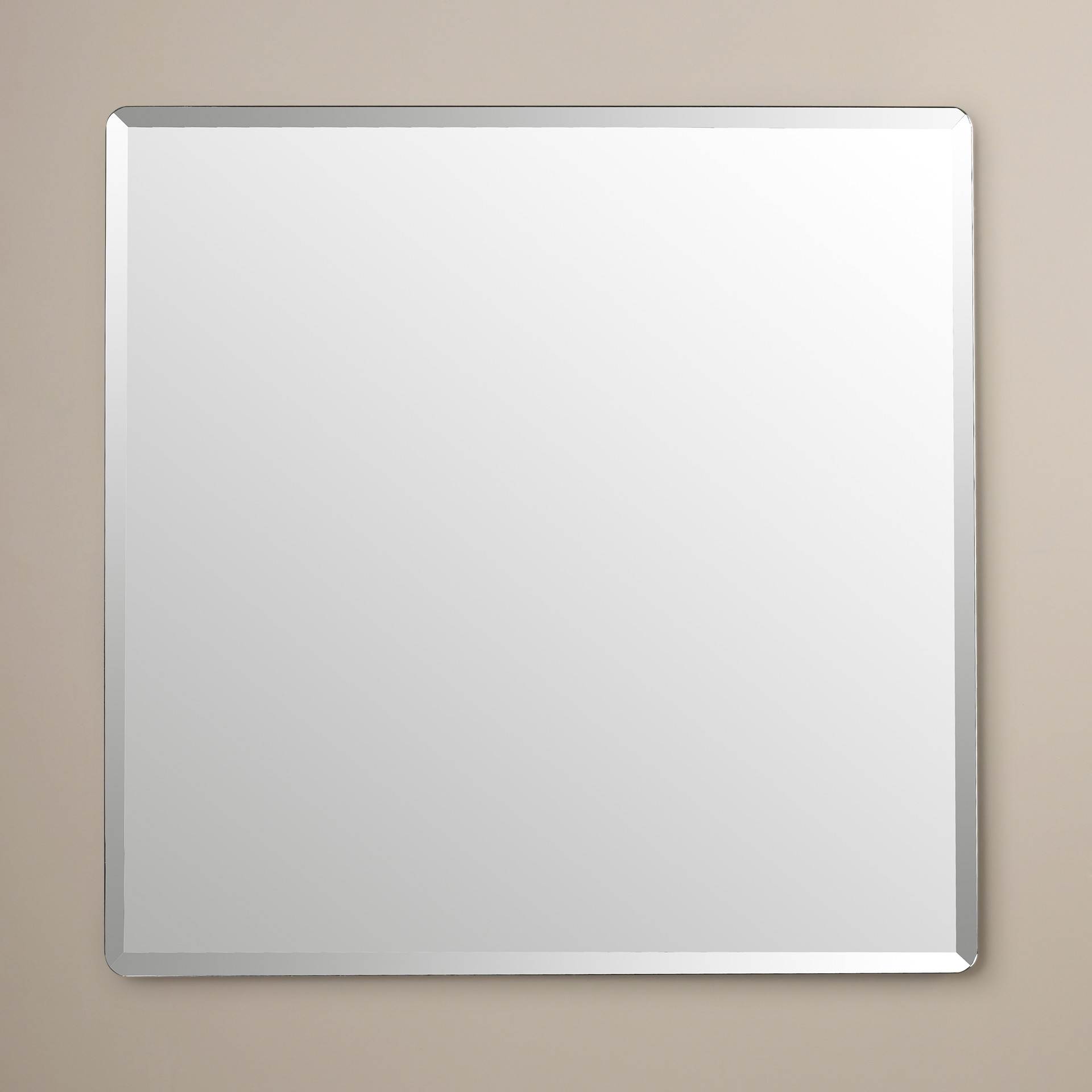 Simple Ideas Beveled Wall Mirror Incredible Frameless Mirrors 4 Intended For Square Frameless Mirror (Image 12 of 15)