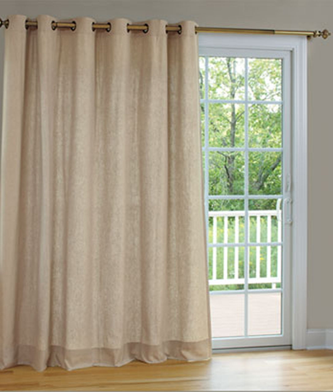 Sliding Door Curtains And Drapes Curtain Best Modern Single Panels Intended For Single Curtains For Doors (Image 13 of 15)