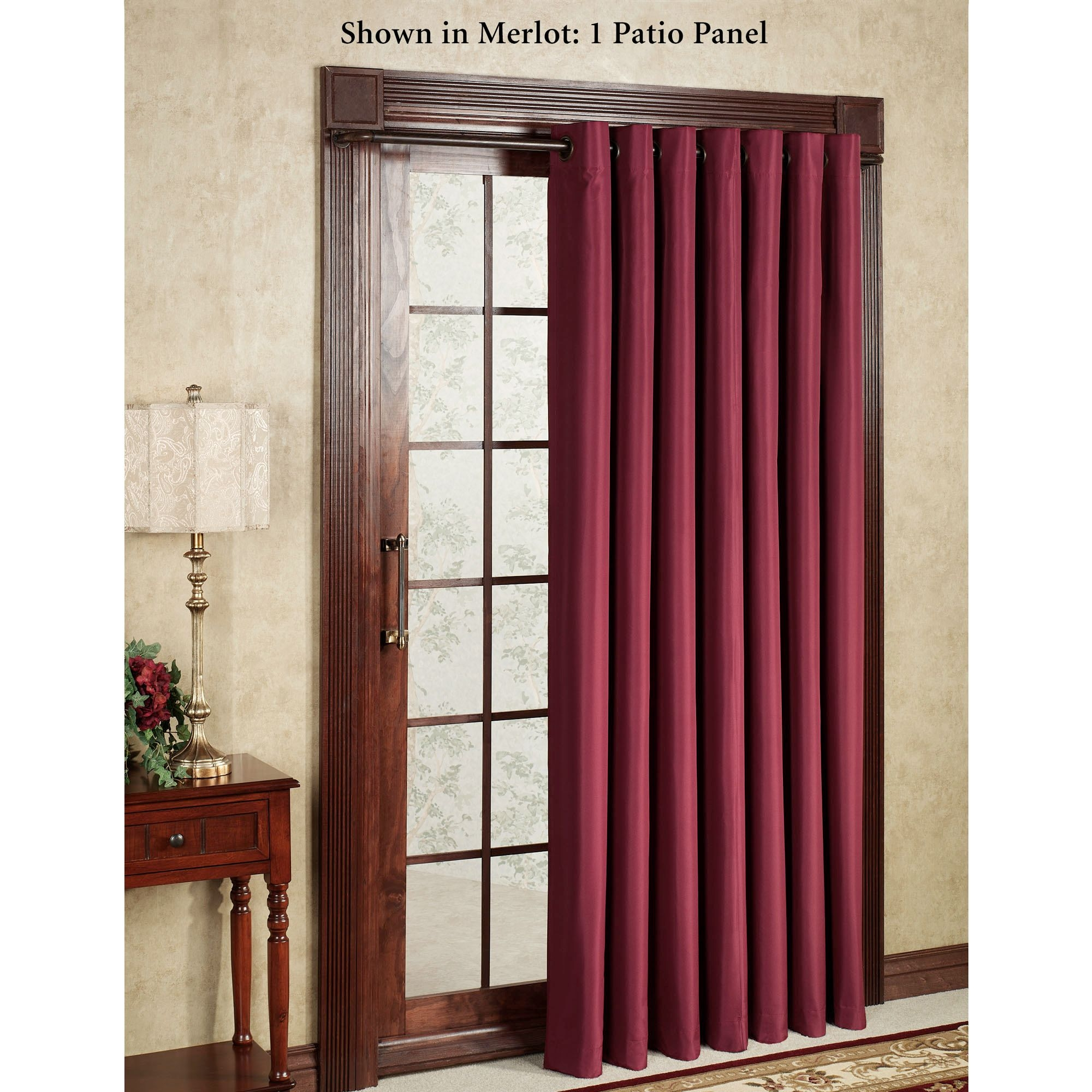 Sliding Door Curtains And Drapes Curtain Best Modern Single Panels Intended For Single Curtains For Doors (Image 12 of 15)
