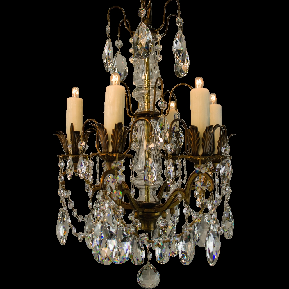 Small Bronze Italian Chandelier With Strass Swarovski Crystal From With Small Bronze Chandelier (Image 14 of 15)