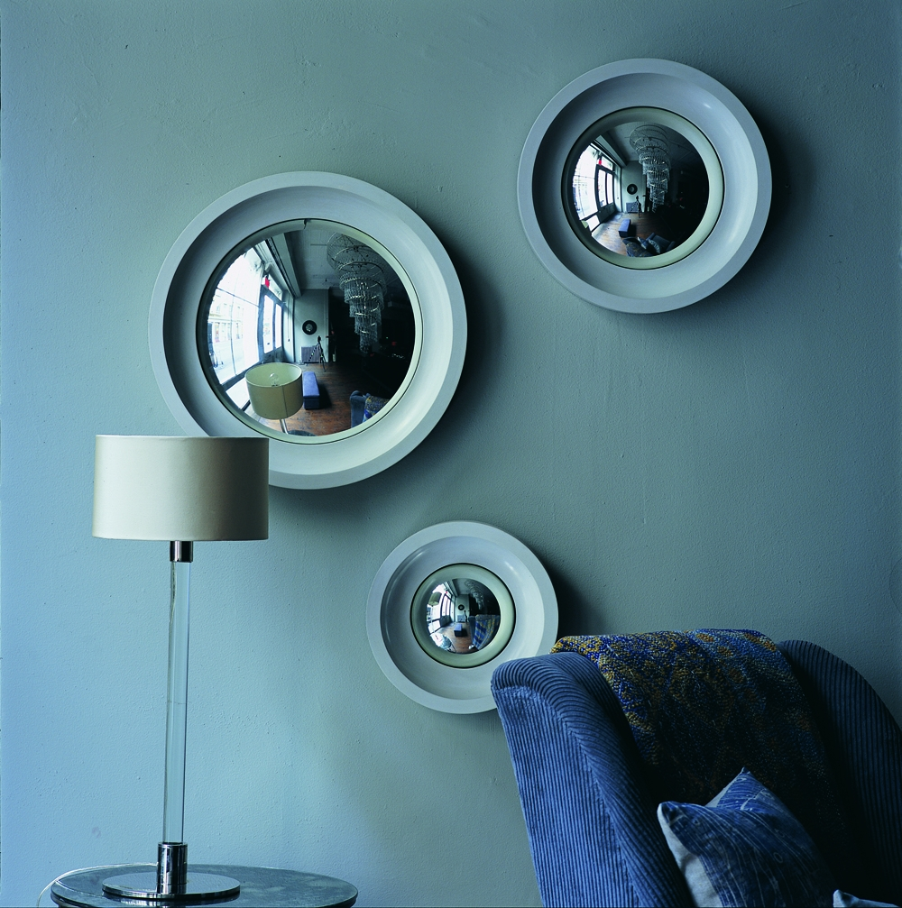 Small Convex Mirror For Creating Striking Wall Decoration Homesfeed Regarding White Convex Mirror (Image 13 of 15)
