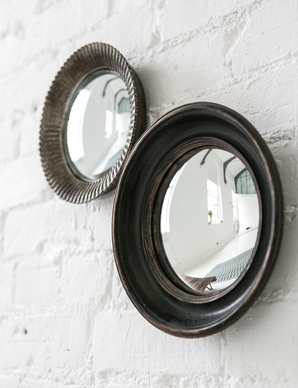 Small Convex Mirrors At Rose And Grey In Black Convex Mirror (Image 14 of 15)