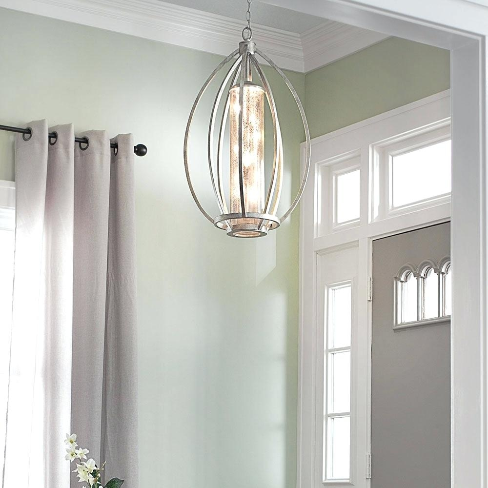 Small Hallway Chandelier Entry Lighting Ideas Metal Antler Within Small Hallway Chandeliers (View 11 of 15)