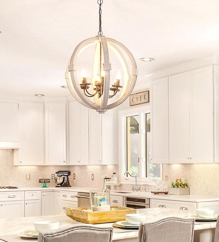 Small Murano Glass Chandelier Antiqued White Distressed Cottage With Regard To Small Shabby Chic Chandelier (Image 14 of 15)