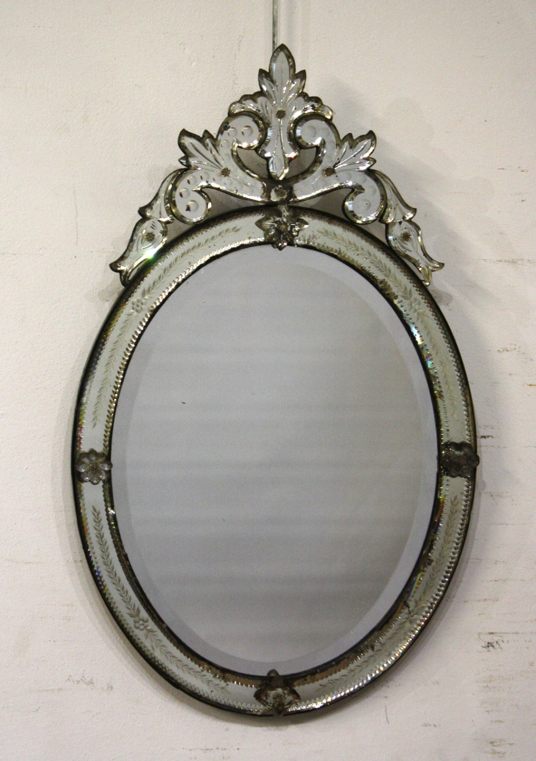 Small Oval Venetian Mirror For Small Venetian Mirrors (Image 10 of 15)