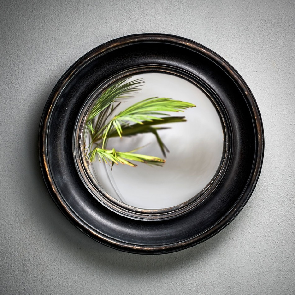 Small Round Convex Mirror Mirrors Graham And Green Regarding Black Convex Mirror (Image 15 of 15)