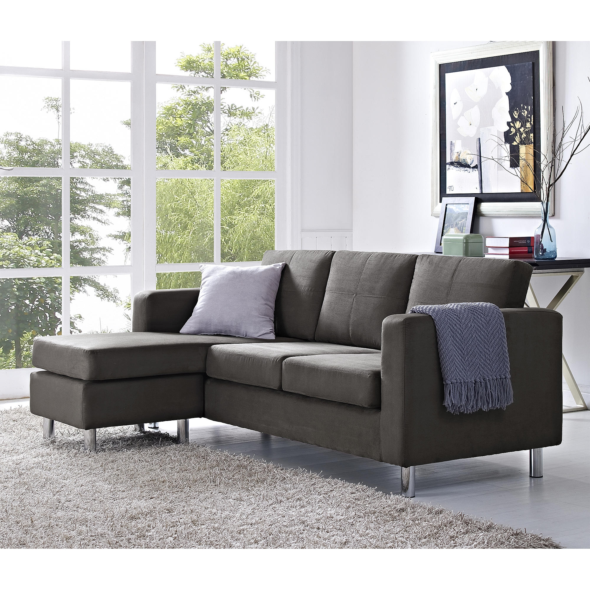 Small Spaces Configurable Sectional Sofa Dorel Home Furnishings Intended For Durable Sectional Sofa (Image 14 of 15)