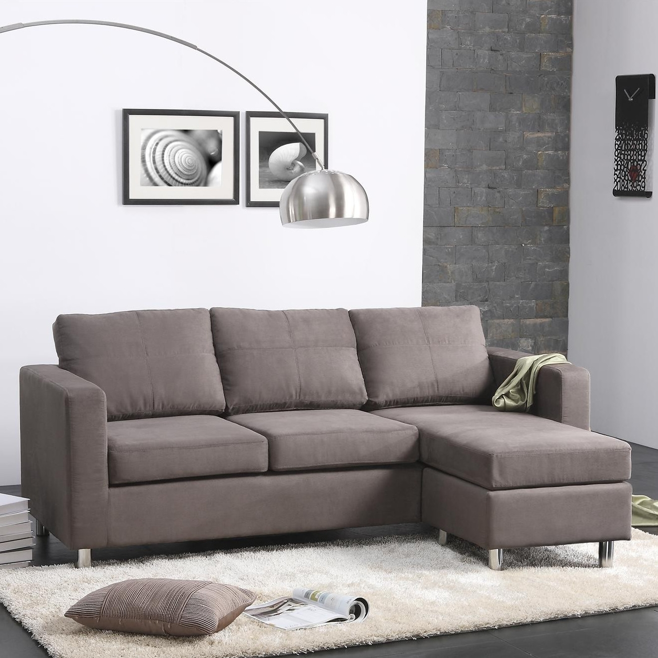 Small Spaces Configurable Sectional Sofa Roselawnlutheran Regarding Small Sectional Sofa (View 10 of 15)