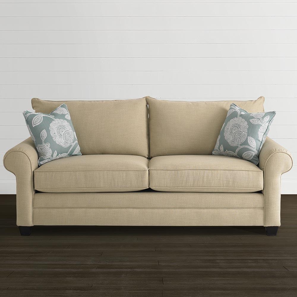 Sock Arm Sofa Living Room Bassett Furniture Within Bassett Sofa Bed (View 13 of 15)