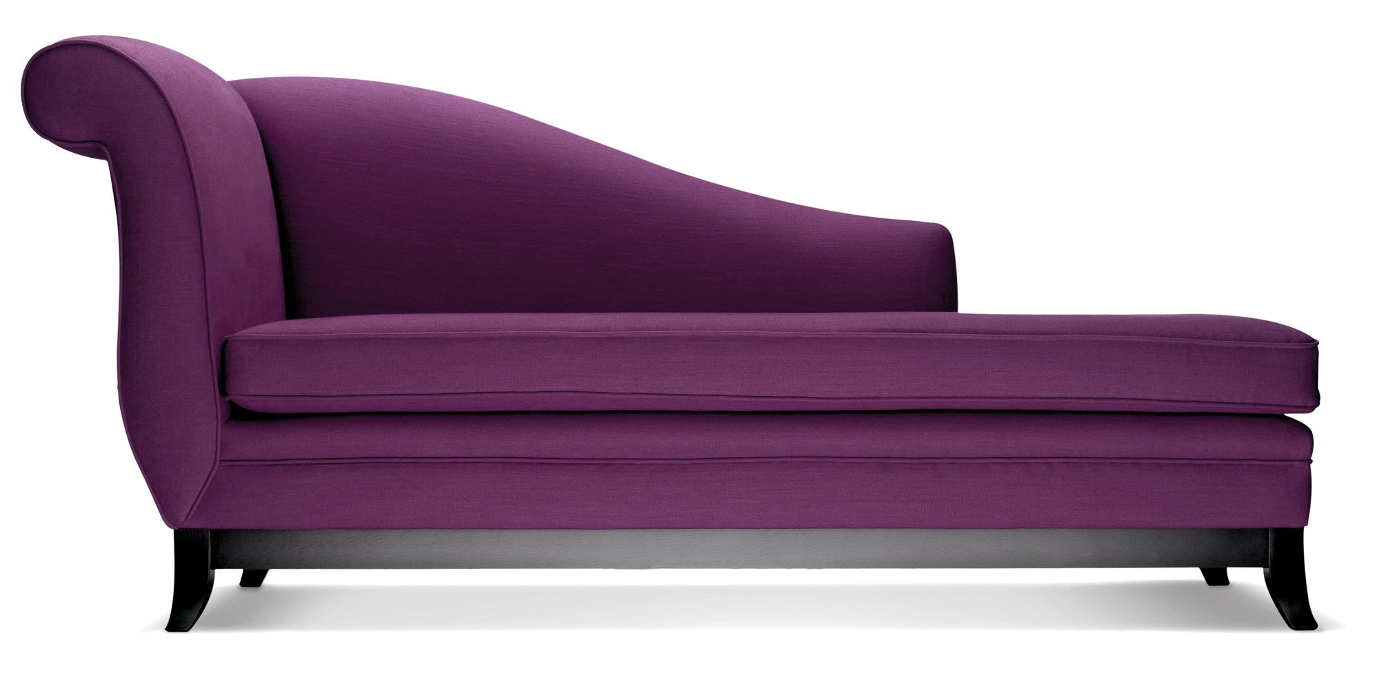 Sofa Beach Style Purple Velvet Tufted Hudson Home Decor Backless With Regard To Backless Chaise Sofa (Image 15 of 15)