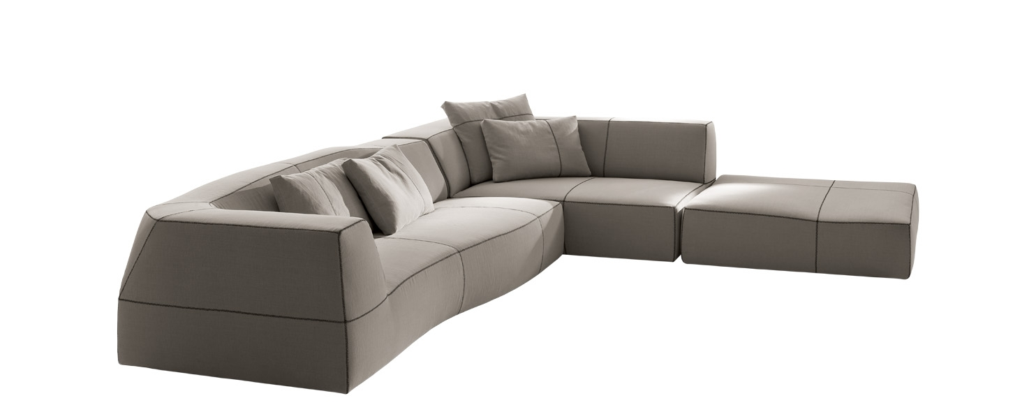 Sofa Bend Sofa Bb Italia Design Patricia Urquiola Pertaining To Angled Chaise Sofa (Image 14 of 15)