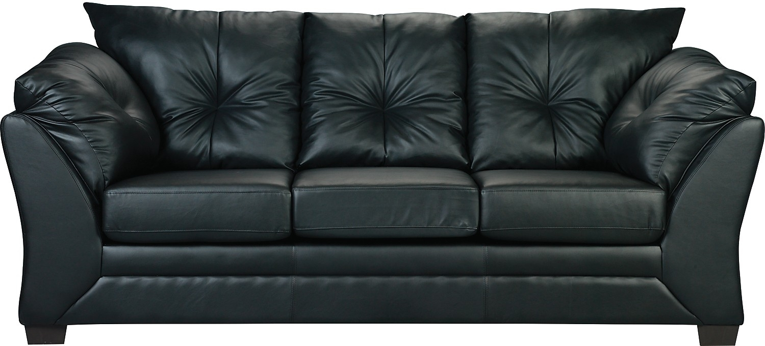 Sofa Max En Similicuir Noir Faux Leather Sofa With Brick Sofas (Image 11 of 15)