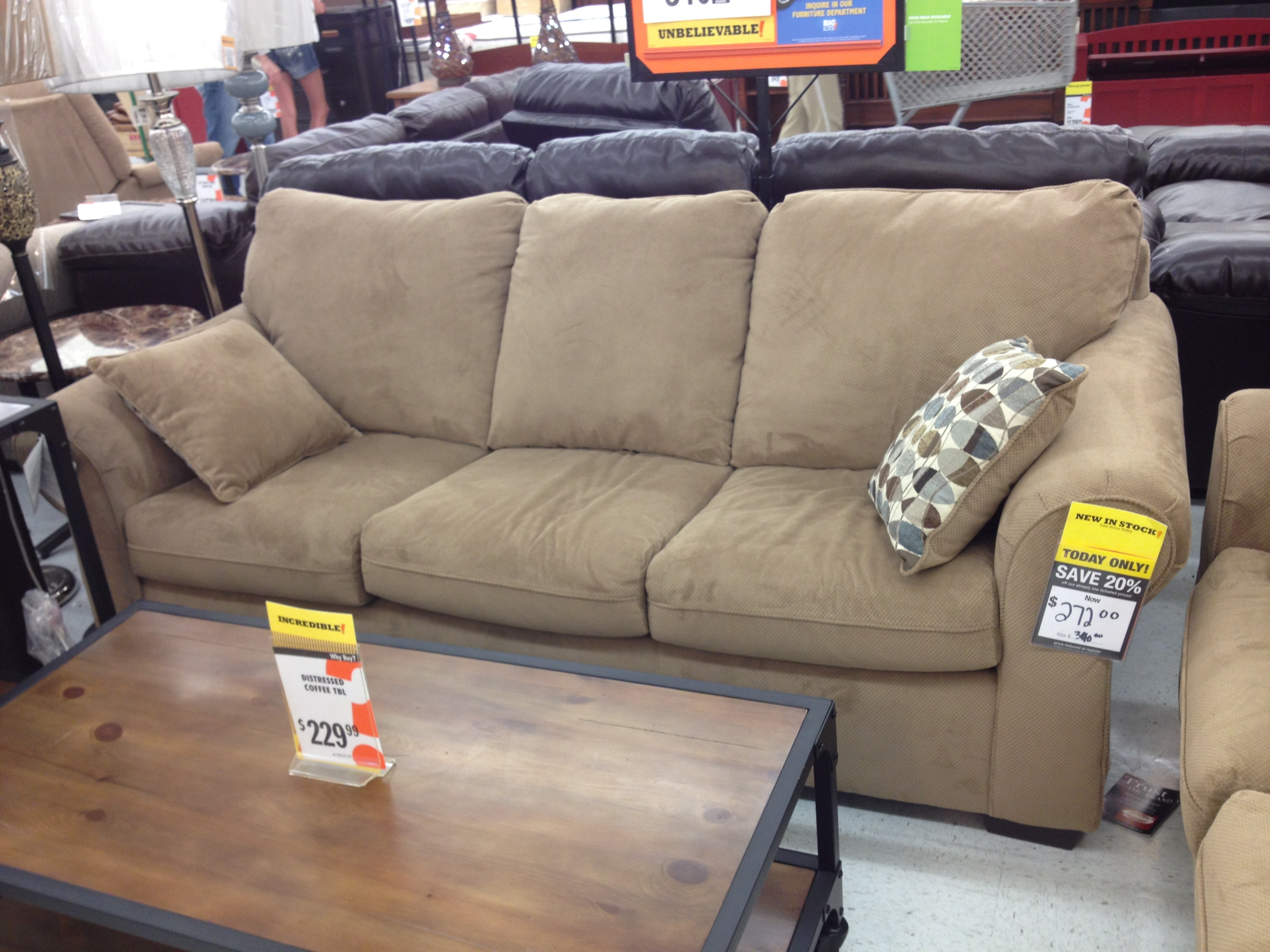 Sofas Center Big Lots Sectional John And I Actually Both Liked Regarding Big Lots Sofa Sleeper (Image 9 of 15)