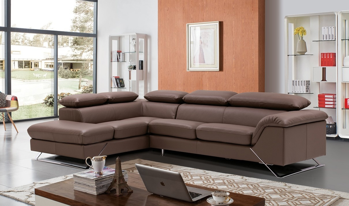 Sofas Center Modern Grey Italian Leather Sectional Sofa Brown Pertaining To Classic Sectional Sofas (Image 13 of 15)