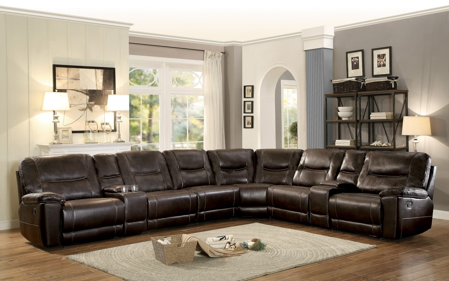Sofas Center Popular Reclining Sectional Sofa With Sleeper On Pertaining To Albany Industries Sectional Sofa (Image 14 of 15)